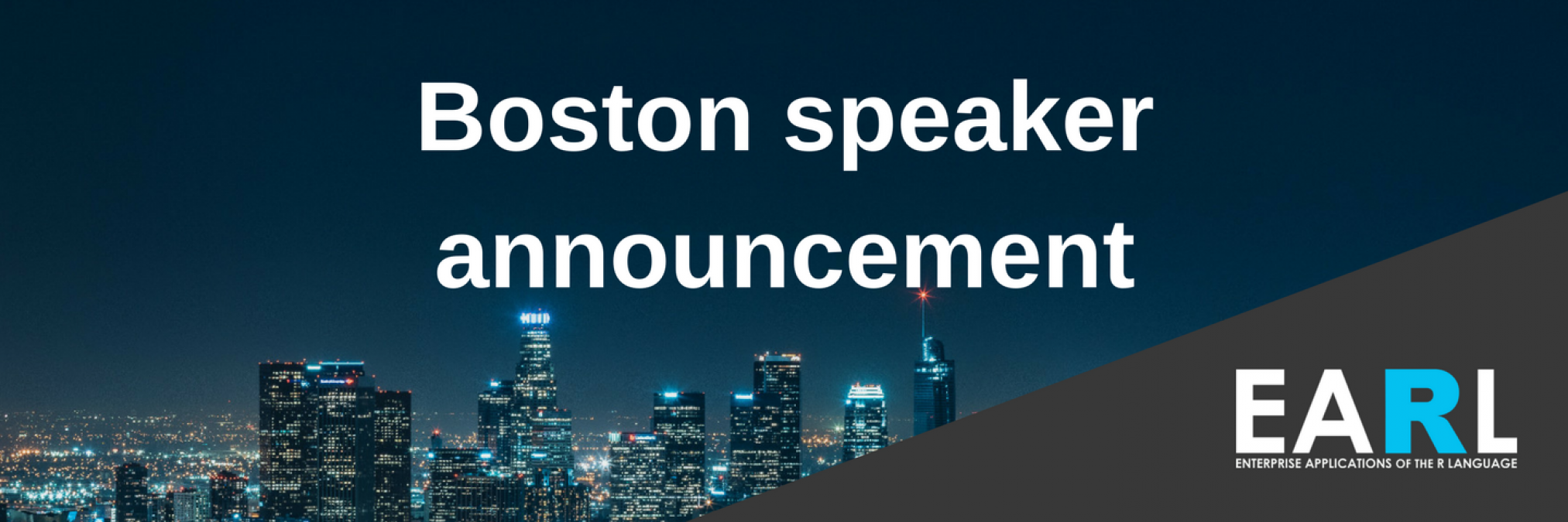 Boston EARL speaker announcement: Agenda now available